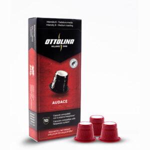 Caffè Ottolina AUDACE espressocupjes (Nespresso compatibel) 10 stuks