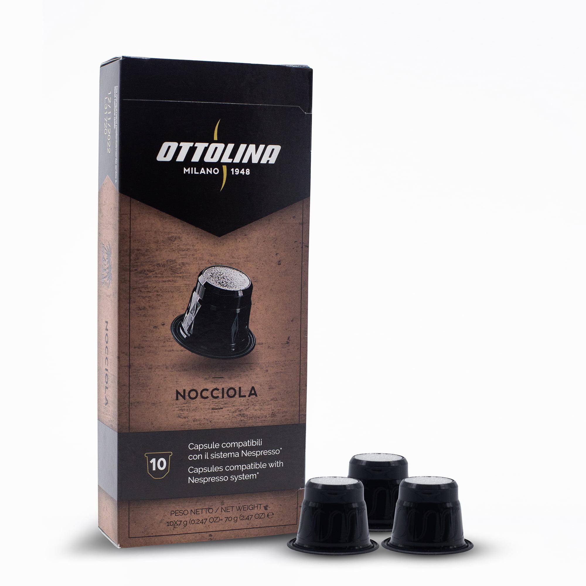Caffè Ottolina HAZELNOOT espressocupjes (Nespresso compatibel) 10 stuks