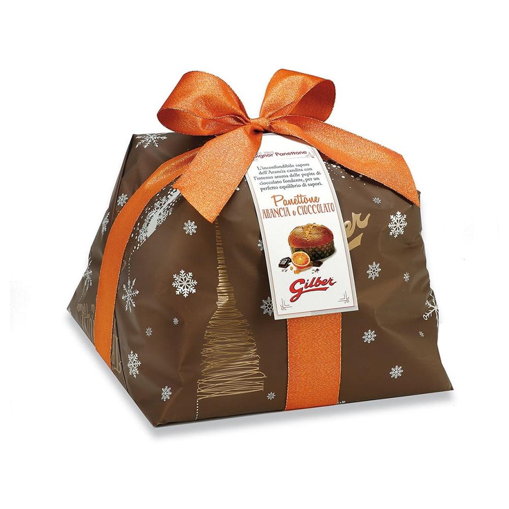 Panettone Arancia & Cioccolato in luxe papierverpakking