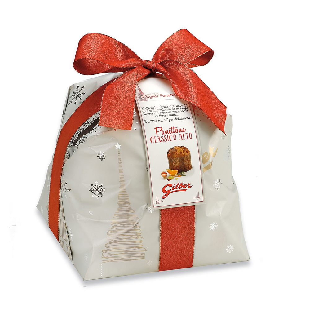Panettone Classico Hoog in luxe papierverpakking