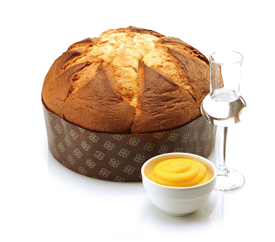 Panettone Crema Grappa in luxe papierverpakking